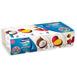 Iogurte magro sabor a morango/coco