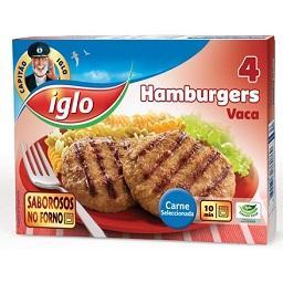 4 hamburguers vaca s/ glúten