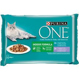 Comida húmida para gato indoor em molho com atum