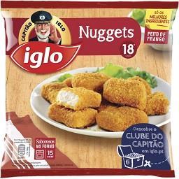 18 nuggets de frango