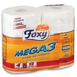 Papel higiénico compacto, mega 3, 4 rolos