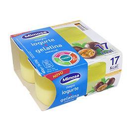 Iogurte magro + gelatina maracujá