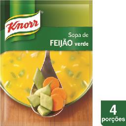 Sopa caseira de feijão verde