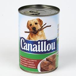 Alimento húmido para cão com carne e legumes