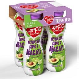 Iogurte líquido Corpos Danone triplo 0% abacate e li...