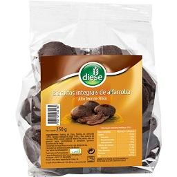 Biscoitos integrais alfarroba