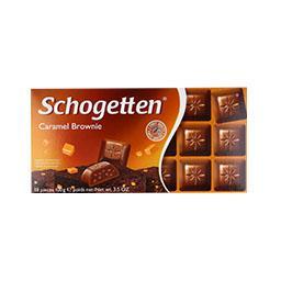 Tablete de chocolate, caramel brownie
