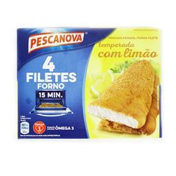 4 filetes de pescada panados c/ limão