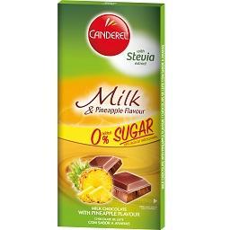 Tablete chocolate de leite com sabor a Ananás