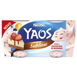 Iogurte grego yaos sublime cheesecake de morango