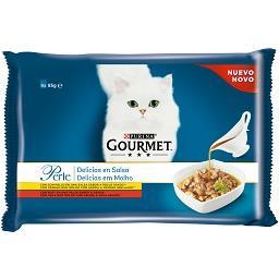 Comida Húmida para Gato em Molho com Carne