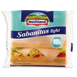 Queijo sabanitas light em fatias