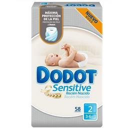 Fraldas Recém Nascido Sensitive | Tamanho 2 - 4-8 kg