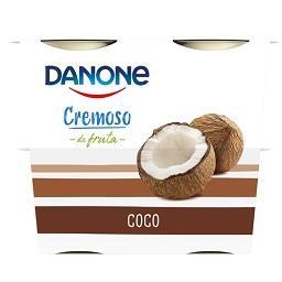 Iogurte cremoso de coco