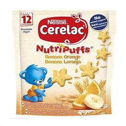 Nutripuffs snack infantil banana laranja +12 meses