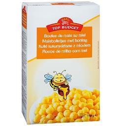 Cereais bolas de milho com mel