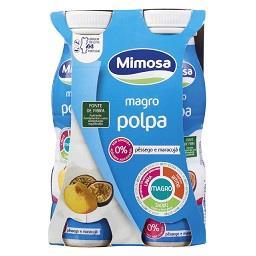 Iogurte liquido magro polpa de pêssego maracujá