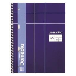 Caderno Espiral Universal A5 Quadriculado
