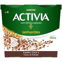 Activia cereais e sementes - espelta, coco e pepitas...
