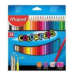 Lápis de cor peps longo, 24 unidades