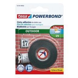Fita bi-adesiva powerbond exterior - 1,5 m x 19 mm