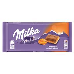 Tablete de chocolate com creme de caramelo
