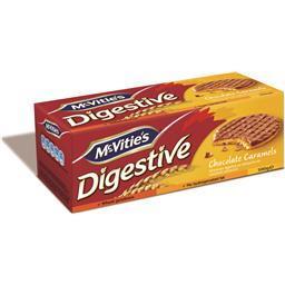 Bolachas digestive caramelo e chocolate