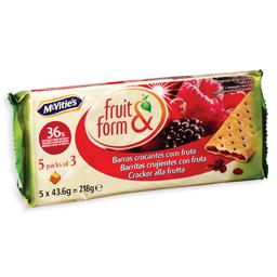 Bolachas fruit & form, frutos de bosques