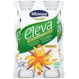 Iogurte líquido eleva fermentos naturais manga, ceno...
