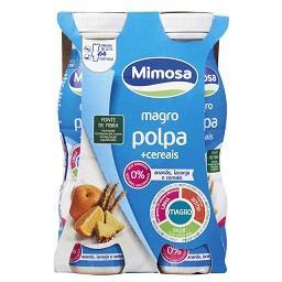 Iogurte liquido magro polpa + cereais de ananás lara...