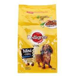 Alimento seco para cão, raças pequenas, sénior
