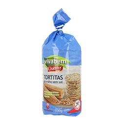 Tortitas de milho sem sal