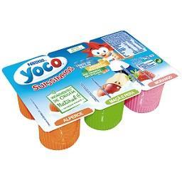 Iogurte yoco suissinhos alperce / maçã e pera / mora...