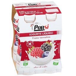 Iogurte líquido drink de frutos vermelhos