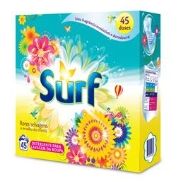 Detergente p/ máquina roupa em pó flores selvagens