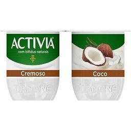 Iogurte activia cremoso coco