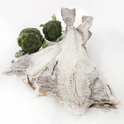 Bacalhau graúdo inteiro salgado, seco