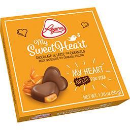 Bombons Coração |Chocolate de Leite c/ Caramelo
