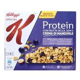 Barras de cereais special k proteína groselha e seme...