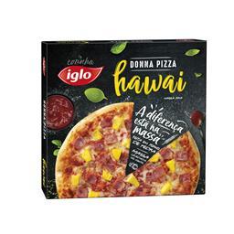 Pizza massa fina Hawai