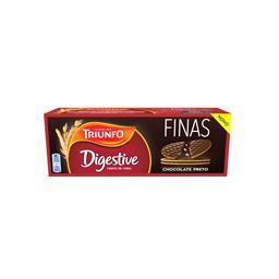Bolachas digestive finas de chocolate negro