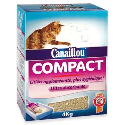 Areia para gato compacta