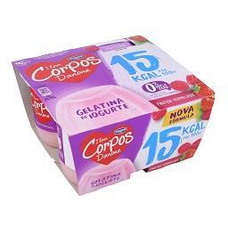 Gelatina de iogurte corpos danone frutos vermelhos
