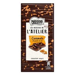 Tablete de chocolate negro com caramelo l' atelier