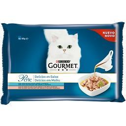 Comida Húmida para Gato em Molho com Peixe