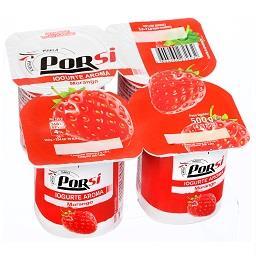 Iogurte, sabor a morango