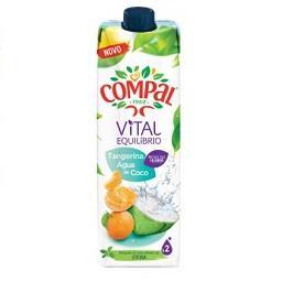 Compal vital tangerina/ água de coco tet 1l