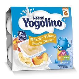 Alimento lácteo sem açucar com sabor a pêssego/banan...