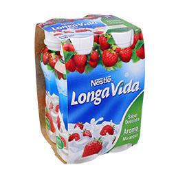 Iogurte líquido de morango