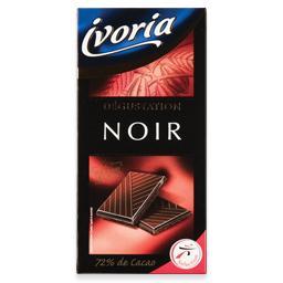 Tablete de chocolate preto degustação